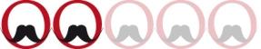 Moustache rasée de près