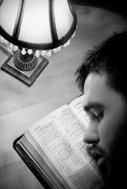 asleep-on-bible